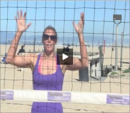 Lauren Fendrick Beach Volleyball Blocking