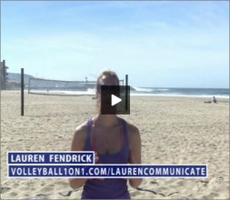 Lauren Fendrick Beach Volleyball Communicate