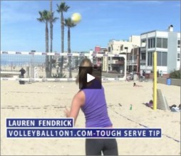 Lauren Fendrick Beach Volleyball Tough Serving