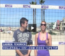 Lauren Fendrick Beach Volleyball Video Tape