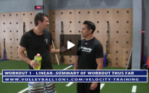 Linear Workout - Summary of Volleyball Workout Thus Far