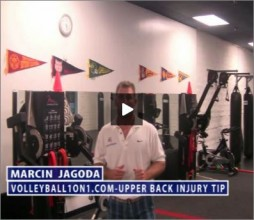 Marcin Jagoda Volleyball Upper Back Injury