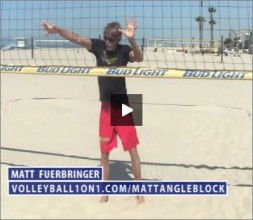 Matt Fuerbringer Beach Volleyball Blocking Angle