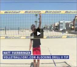 Matt Fuerbringer Beach Volleyball Blocking Drill II