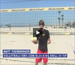 Matt Fuerbringer Beach Volleyball Blocking Drill III