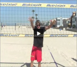Matt Fuerbringer Beach Volleyball Blocking Line