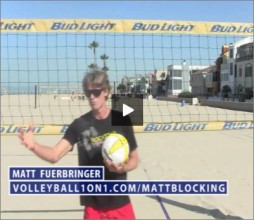 Matt Fuerbringer Beach Volleyball Blocking