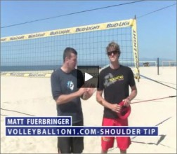 Matt Fuerbringer Beach Volleyball Shoulder