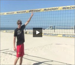 Matt Fuerbringer Beach Volleyball Spiking