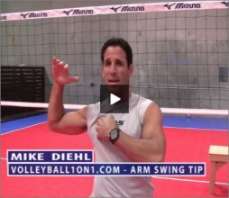 Mike Diehl Volleyball Arm Swing