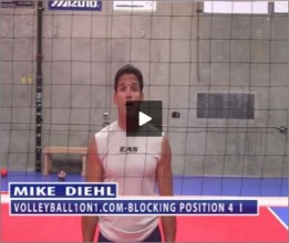 Mike Diehl Volleyball Blocking Position Four Part I