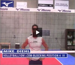 Mike Diehl Volleyball Blocking Position Four Part IV