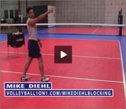 Mike Diehl Volleyball Blocking