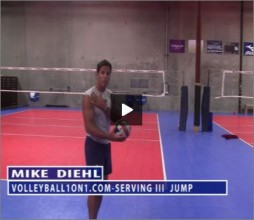 Mike Diehl Volleyball Jump Serve Part II