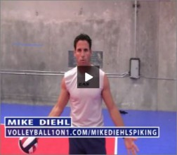 Mike Diehl Volleyball Left Side Spiking