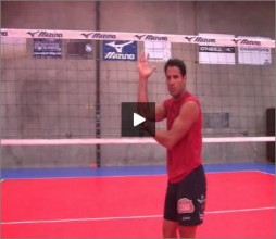 Mike Diehl Volleyball Warm Up Blocking