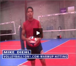 Mike Diehl Volleyball Warm Up Hitting
