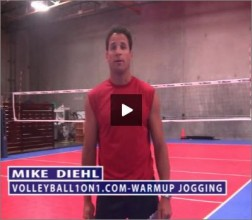 Mike Diehl Volleyball Warm Up Jogging