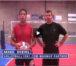 Mike Diehl Volleyball Warm Up Partner