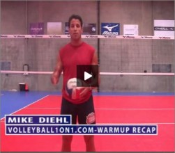 Mike Diehl Volleyball Warm Up Recap