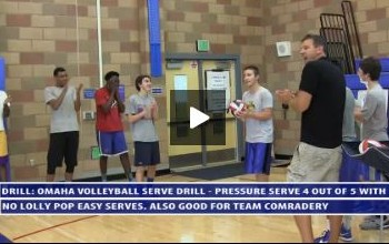 Omaha Pressure Serving Volleyball Drill - Uni High - Day 2