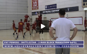 Pat Powers - Battle Star - 3 Man Block Transition Drill - Part 2