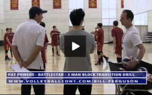 Pat Powers - Battle Star - 3 Man Block Transition Drill