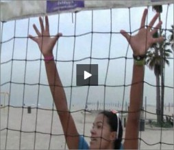 Priscilla Lima Beach Volleyball Blocking