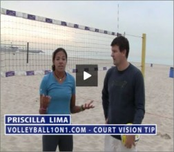 Priscilla Lima Beach Volleyball Court Vision