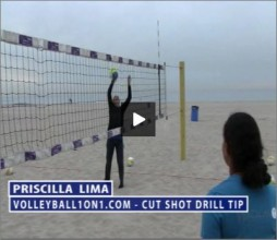 Priscilla Lima Beach Volleyball Cut Shot Drill