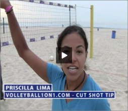 Priscilla Lima Beach Volleyball Cut Shot