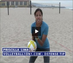 Priscilla Lima Beach Volleyball Defense Drill