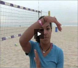 Priscilla Lima Beach Volleyball Line Shot Drill