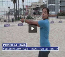 Priscilla Lima Beach Volleyball Transition Setting
