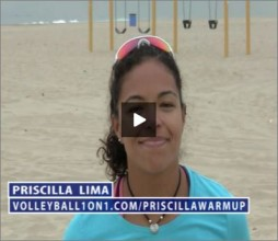 Priscilla Lima Beach Volleyball Warm Up