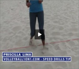 Priscilla Lime Beach Volleyball Speed Drill