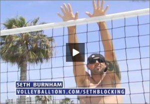 Seth Burnham Beach Volleyball Blocking
