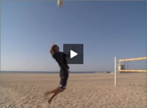 Seth Burnham Beach Volleyball Jump Serving