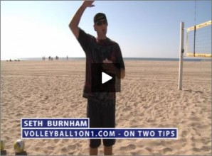 Seth Burnham Beach Volleyball On Two