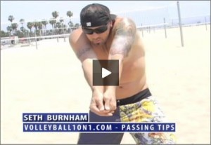 Seth Burnham Beach Volleyball Passing