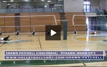 Shawn Patchells Dynamic Warm Ups for Volleyball with Concordia Mens Team