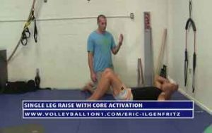 Single-Leg-Raise-with-Core-Activation---FMS-Volleyball-Training-Exercises-with-Eric-Ilgenfritz