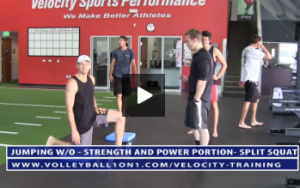 Split Squat and Pull Up - Strength and Power Portion Workout - Velocity Workout 2 - Jump & Landing Day