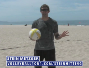Stein Metzger Beach Volleyball Hitting