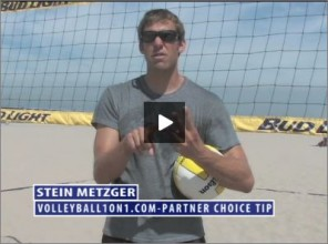 Stein Metzger Beach Volleyball Partner Choice