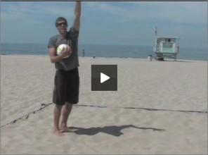 Stein Metzger Beach Volleyball Pass Deep Serve