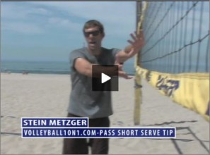 Stein Metzger Beach Volleyball Pass Short Serve