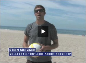 Stein Metzger Beach Volleyball Short Serve