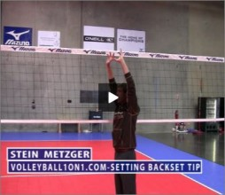 Stein Metzger Volleyball Series Setting Back Set