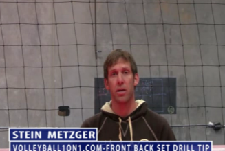 Stein Metzger Volleyball Series Setting Front Back Drill